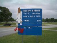 NASAジョンソン宇宙センター看板