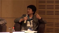 Mukai comments at the panel discussion (Credit: JAXA)