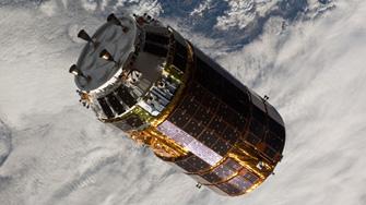 写真:宇宙ステーション補給機「こうのとり」(HTV)