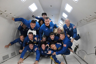 Everyone in the 2009 ASCAN (Astronaut Candidate) class with whom I have trained since 2009 ? we will all take off for space one after another. (Photo supplied by: JAXA/NASA)