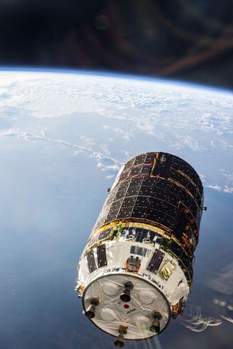 写真:ISSから撮影されたHTV