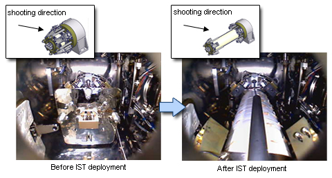 Deployment of IST taken by a SIMPLE's internal camera (Credit: JAXA)