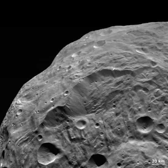 A Landslide on Asteroid Vesta