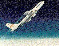 写真:急上昇するKC-135
