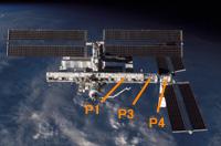 写真:国際宇宙ステーション(ISS)に取り付けられたP3トラス