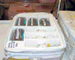 Photo: Food, Commodities, Experiment Samples Packed in a CTB