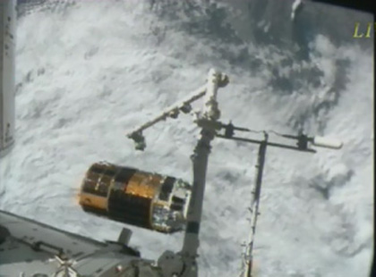 image: KOUNOTORI3 released from the SSRMS.