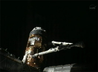 image: KOUNOTORI3 unberthed from the ISS by the SSRMS.