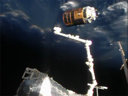 image:KOUNOTORI4 released from the SSRMS