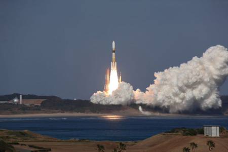 Launch of HTV2 (Credit: JAXA/NASA)