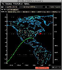 写真:飛行14日目の2回目のKSCへの飛行経路
