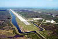 写真:KSCのシャトル着陸施設(Shuttle Landing Facility:SLF)
