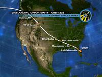 写真:KSCへの飛行経路