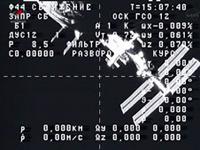 写真:プログレス補給船(49P)の分離の様子