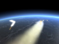ATV2の大気圏再突入イメージ(出典:JAXA/ESA - D. Ducros)