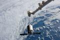 写真:ISS下方に接近したシグナス補給船運用1号機(Orb-1)