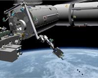 小型衛星の放出イメージ