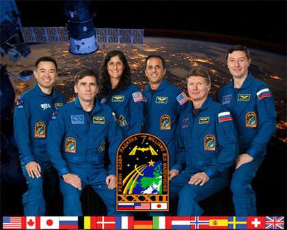 写真:ISS第32次長期滞在クルー(出典:JAXA/NASA)
