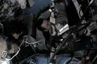 US EVA20に向けた準備を行う星出、ウィリアムズ両宇宙飛行士(出典:JAXA/NASA)