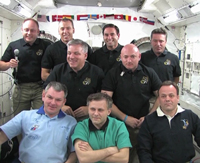 写真:軌道上共同記者会見の様子