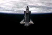写真:ISSから分離したエンデバー号