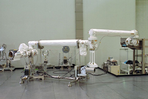 The JEMRMS Main Arm during a sub-system test