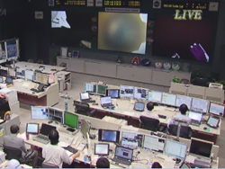 KIBO control  room in Tsukuba Space Center(JAXA)