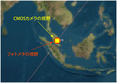 [Fig. 4] ISS location when captured the lightning
