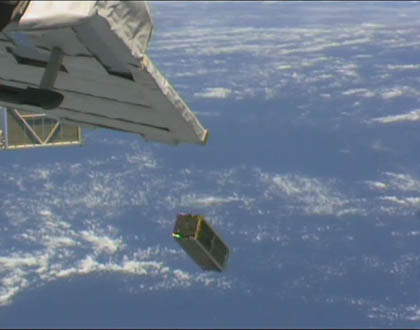 Deployment of SERPENS (Credit: JAXA/NASA)