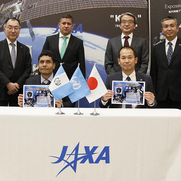 グアテマラ初の超小型衛星がJAXAに引き渡されました