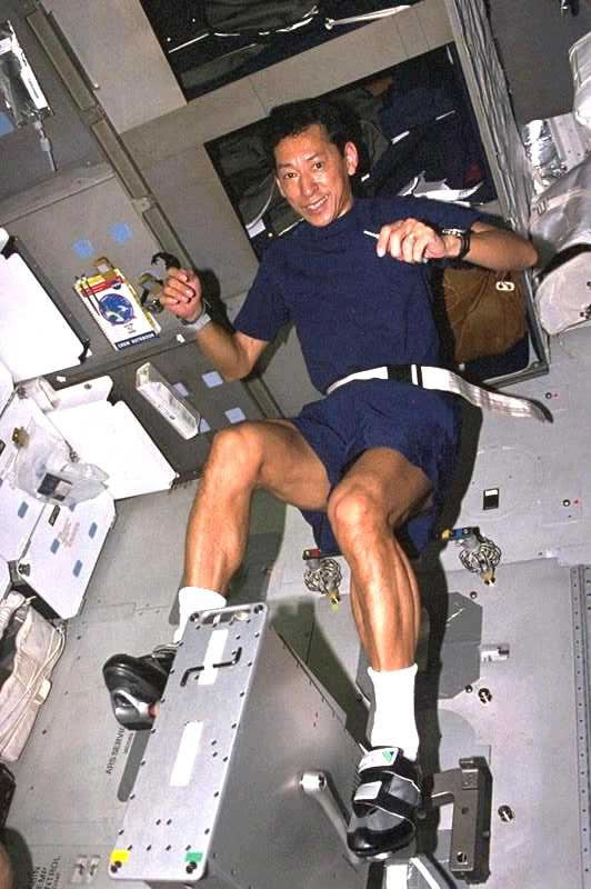 how astronauts exercise in space - photo #5