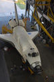 スペースシャトル組立棟(Vehicle Assembly Building: VAB)へ到着したオービタ