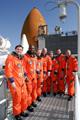 ターミナル・カウントダウン・デモンストレーション・テスト(Terminal Countdown Demonstration Test: TCDT)を終えたSTS-122クルー