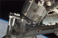 ISSに取り付けられた「きぼう」日本実験棟