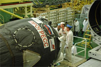 打上げに向けた準備が進む30P(クA輦.P.Korolev RSC Energia)