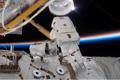 第1回船外活動を行うジェイムズ・ライリー宇宙飛行士(飛行4日目)
