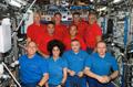アトランティス号のクルーと第15次長期滞在クルーによる共同記者会見(飛行9日目)