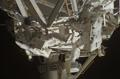 第4回船外活動(太陽電池パドル回転機構(Solar Alpha Rotary Joint: SARJ)の起動準備作業)(飛行10日目)