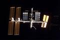 ドッキング前にアトランティス号から撮影されたISS(飛行3日目)