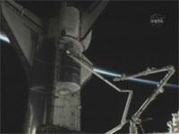 写真:SSRMSからSRMSに受け渡されたOBSS