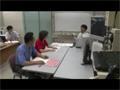 「きぼう」ロボットアームの操作訓練を行うキャスリン・コールマン宇宙飛行士と古川宇宙飛行士