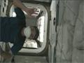 星出宇宙飛行士による「こうのとり」3号機のハッチオープンの様子