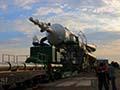大西宇宙飛行士ISS長期滞在:ソユーズロケット(Soyuz FG)のロールアウト