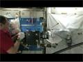 補修したマランゴニ対流実験の供試体のオイル漏れ確認