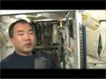 ISSトイレの配管交換作業を行う野口宇宙飛行士