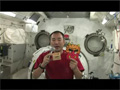 野口宇宙飛行士の節分の豆まき