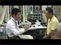 「きぼう」で実施する実験について訓練を行う古川宇宙飛行士