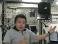 若田宇宙飛行士の「きぼう」ロボットア-ム操作卓紹介