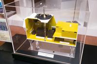 写真:ロビーに展示されたCALETの模型