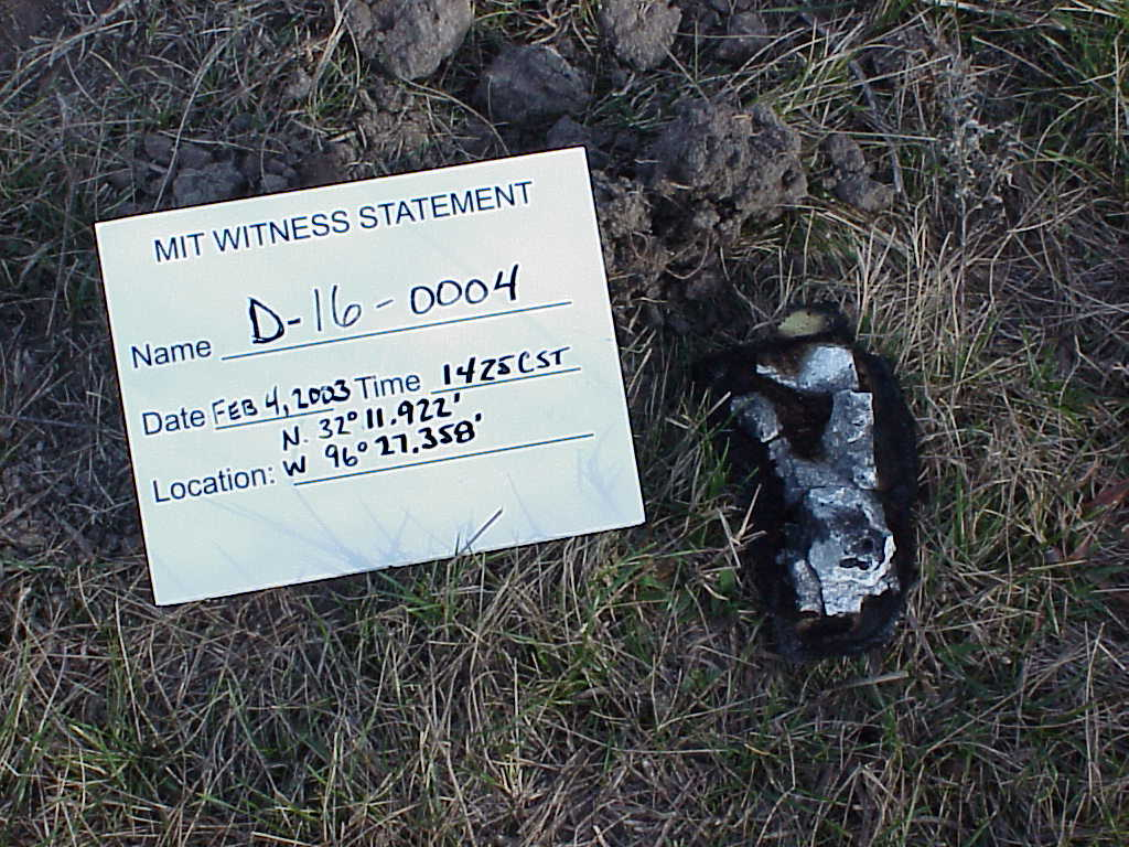 space shuttle columbia astronaut remains - photo #35